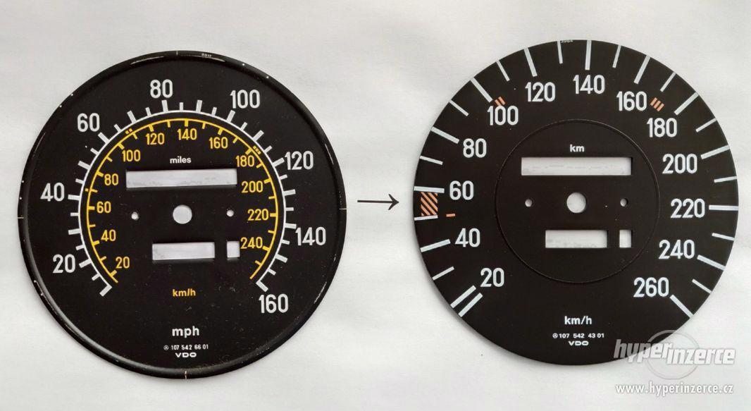 Úprava tachometrů pro automobily dovezené z USA