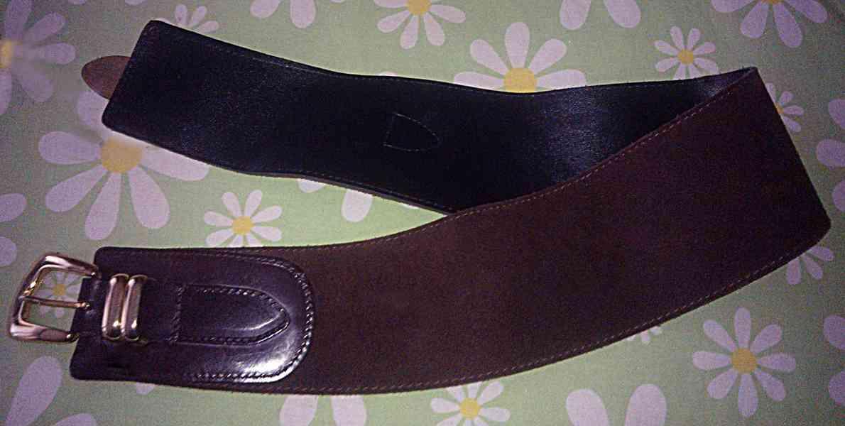 Dámský kožený široký opasek - foto 3