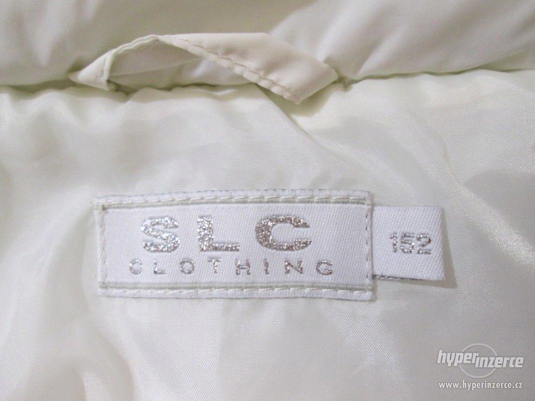 ZIMNÍ KABÁT - bunda s kapucí , zn.SLC, vel. 152 (bílá) - foto 1