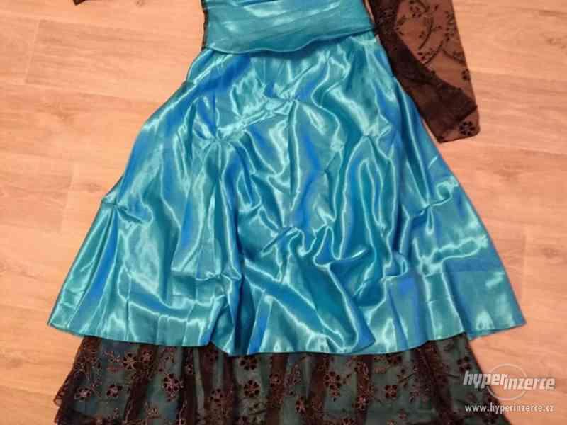 Dámské plesové šaty korzetové, modro černé