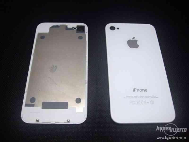 Zadní kryt (sklo) pro iPhone 4 a 4S bílý, černý + šroubovák - foto 2