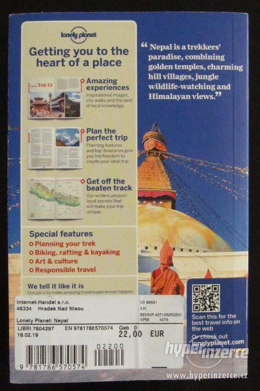 Průvodce Lonely Planet Nepal 2018 AJ téměř nová - foto 2