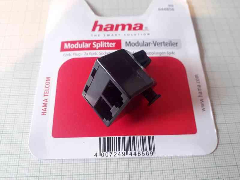 Modulární rozdělovač - telefonní rozdvojka Hama
