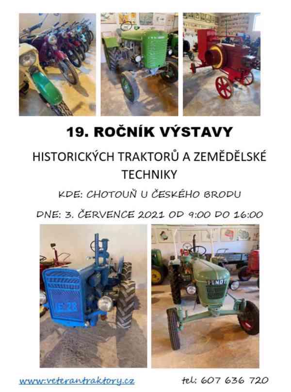 Pozvánka na výstavu traktorů