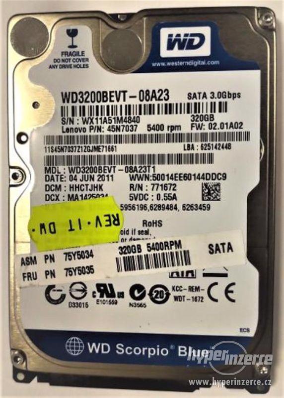 "HDD do NB WD Blue WD3200BEVT-08A23 320GB 5400ot 2,5"" - foto 1"