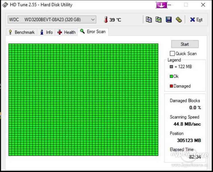 "HDD do NB WD Blue WD3200BEVT-08A23 320GB 5400ot 2,5"" - foto 3"