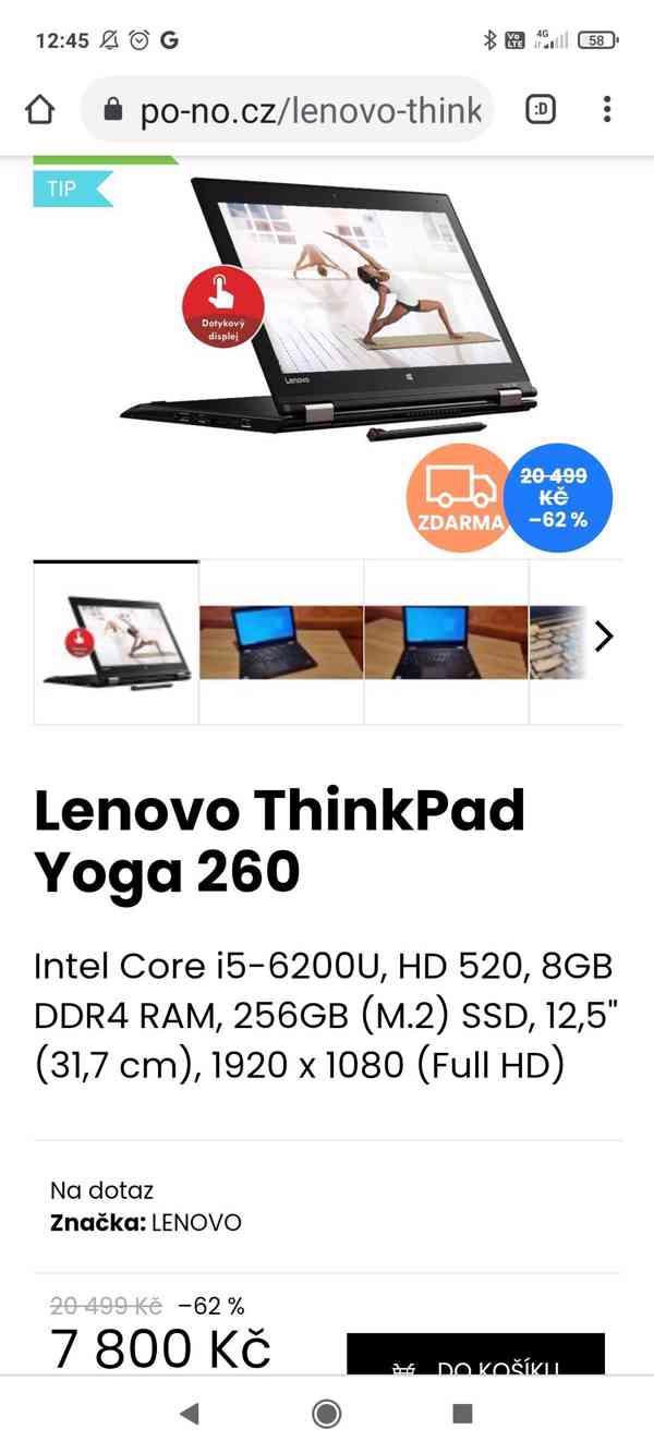 Předváděcí notebooky Lenovo, top stav, bezva výkon - foto 3
