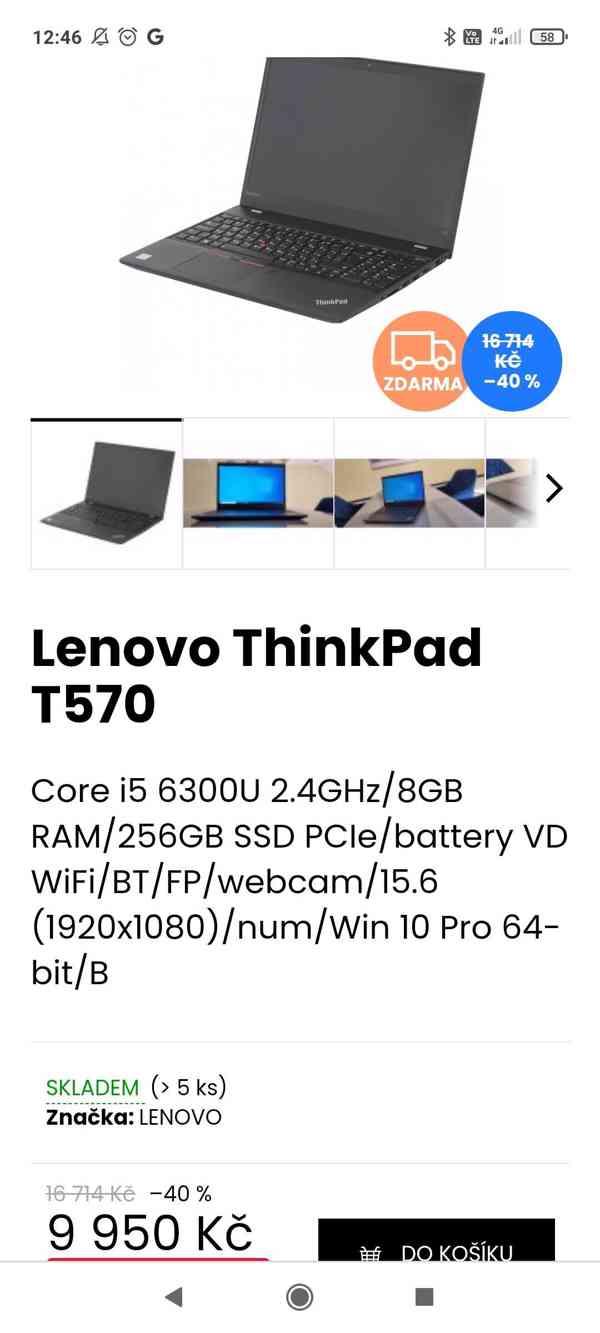 Předváděcí notebooky Lenovo, top stav, bezva výkon - foto 2