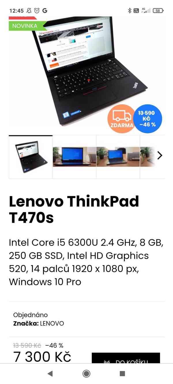 Předváděcí notebooky Lenovo, top stav, bezva výkon - foto 4