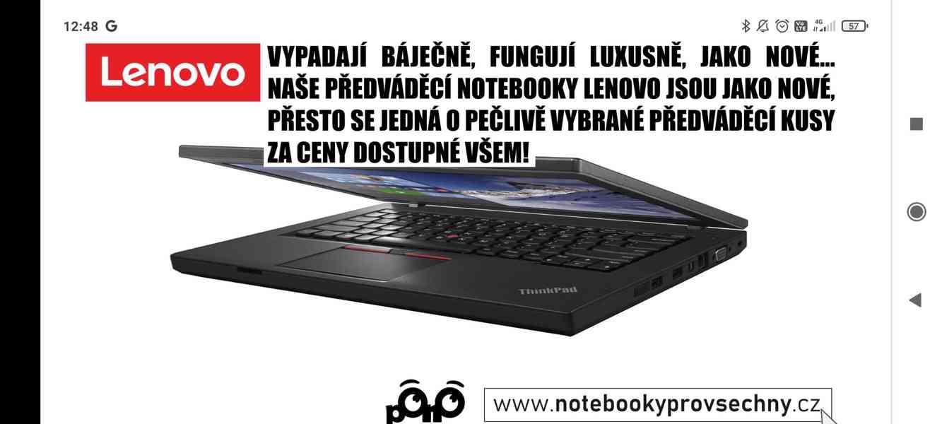 Předváděcí notebooky Lenovo, top stav, bezva výkon - foto 1