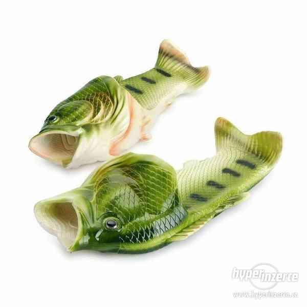 Originální pantofle/ cukle ve tvaru ryby/ ryba, kapra/ kapr - foto 4