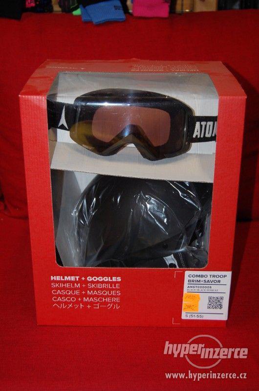 VÝPRODEJ nová helma Atomic Combo Troop + brýle