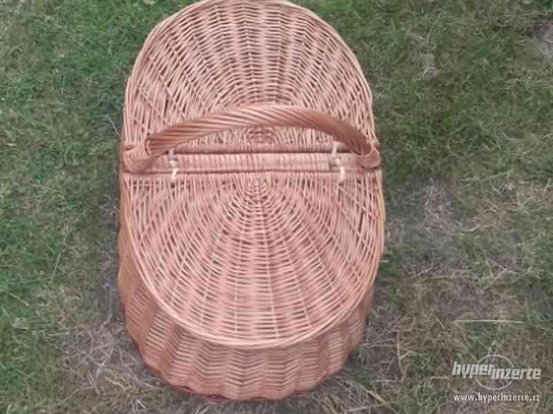 Nový proutěný košík odklápěcí