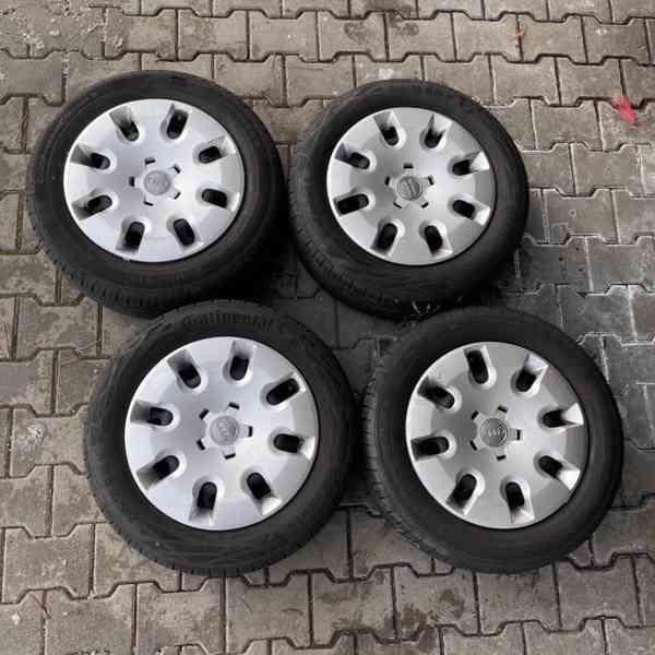 """Letní pneu 205 55 15, plech disky 15"""" orig Audi"""