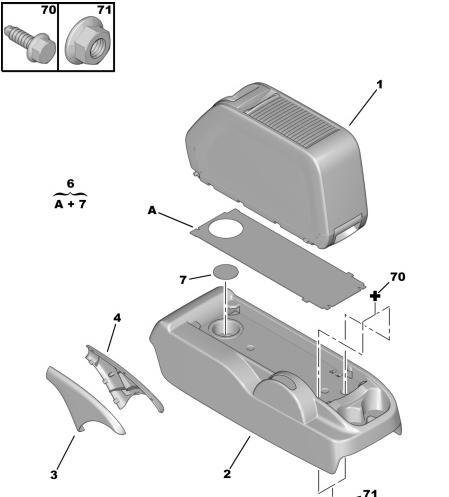 """Středová konzole """"Berlingo Multispace"""" - foto 1"""