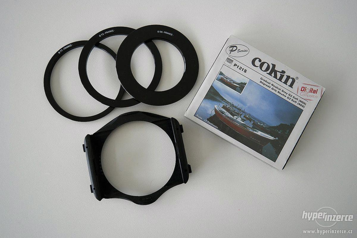 Přechodový Cokin P121S + držák + 58, 72, 77 mm adaptér - foto 1
