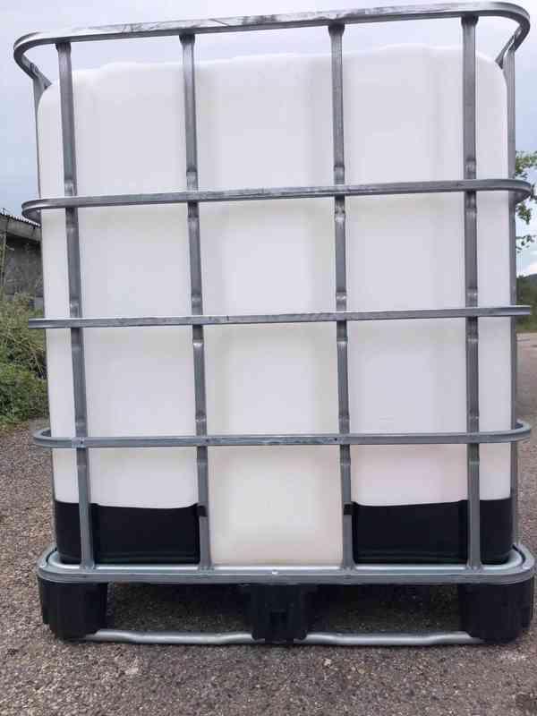 Prodám IBC kontajner 1000l krásné, čisté z potravinářství - foto 2