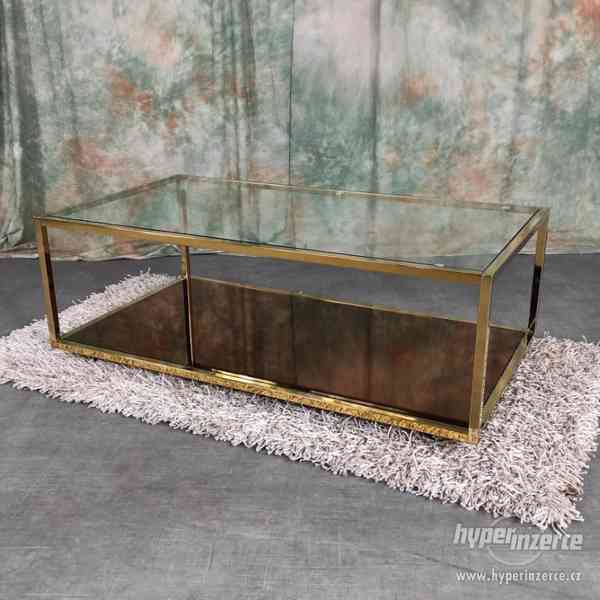 /255/ NOVÝ glamour zlatý konferenční stolek