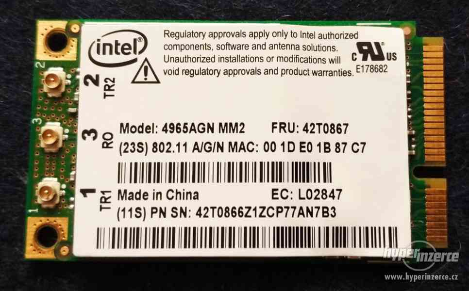 MINI PCI TV karta AverMedia, miniPCI a pcmcia WiFi do NTB - foto 4