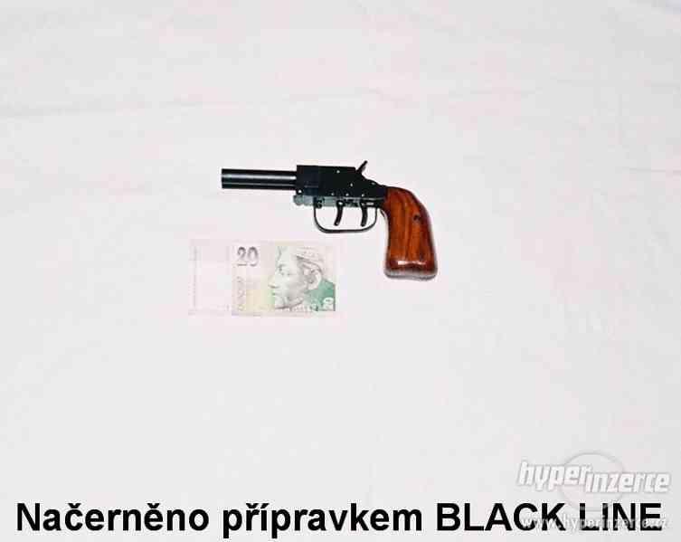 Přípravky k černění a úpravám povrchů zbraní.