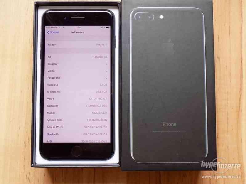 APPLE iPhone 7 PLUS 32GB Jet Black - ZÁRUKA - SUPER STAV - foto 2