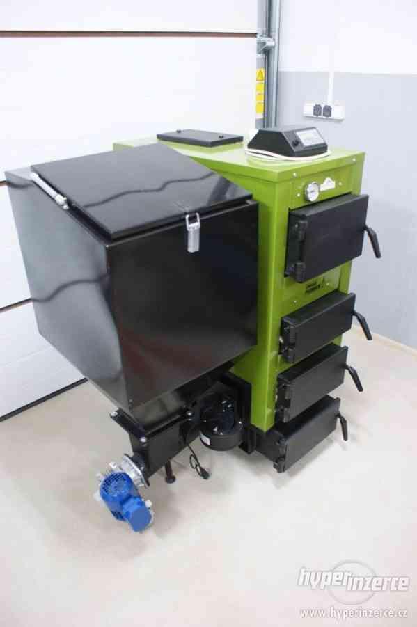 Automat. kotel 18, 25kW na pelety,ořech2,kusové dřevo