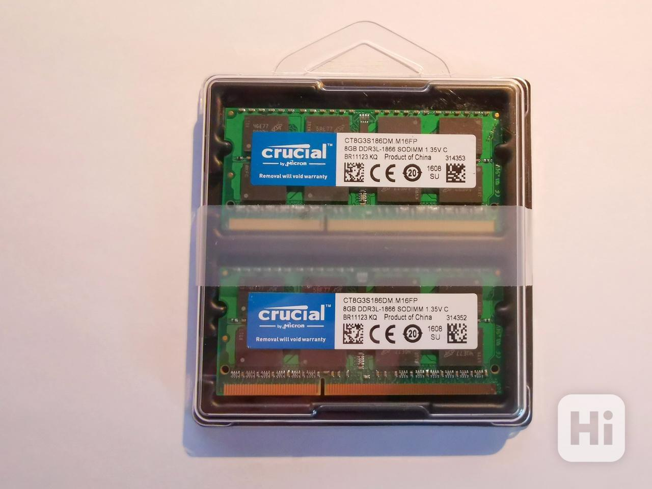 2x8GB RAM (16GB Kit) SODIMM DDR3L 1866MHz Crucial 1.35V - foto 1