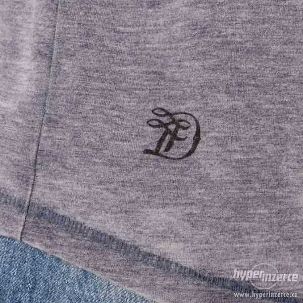 Nové pánské tričko Tom Tailor šedo modré vel M - foto 2