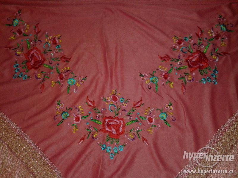 Šátek na flemenco / flamengo růžový  P5 Zličín