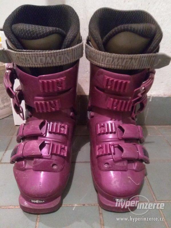 Lyžáky, Přeskáče, Lyžařské boty Salomon