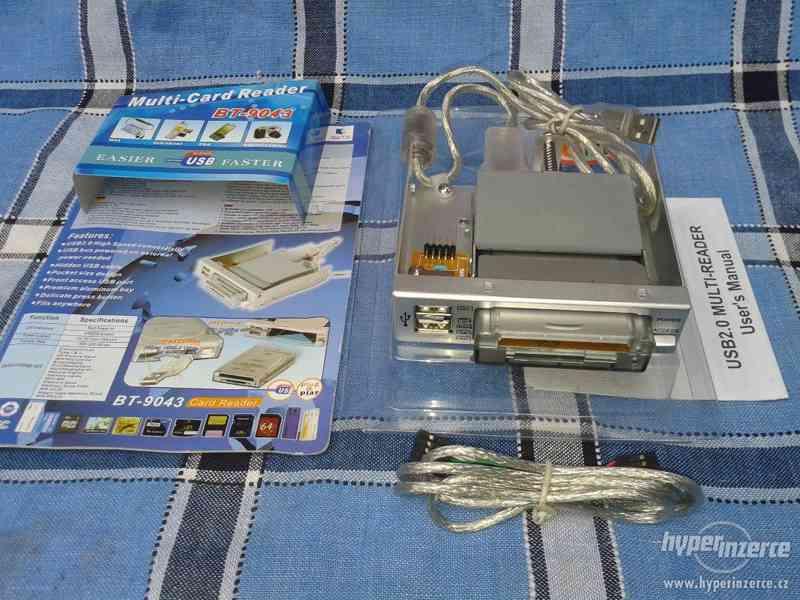 Nepoužitá čtečka paměťových karet BT 9043USB. - foto 2