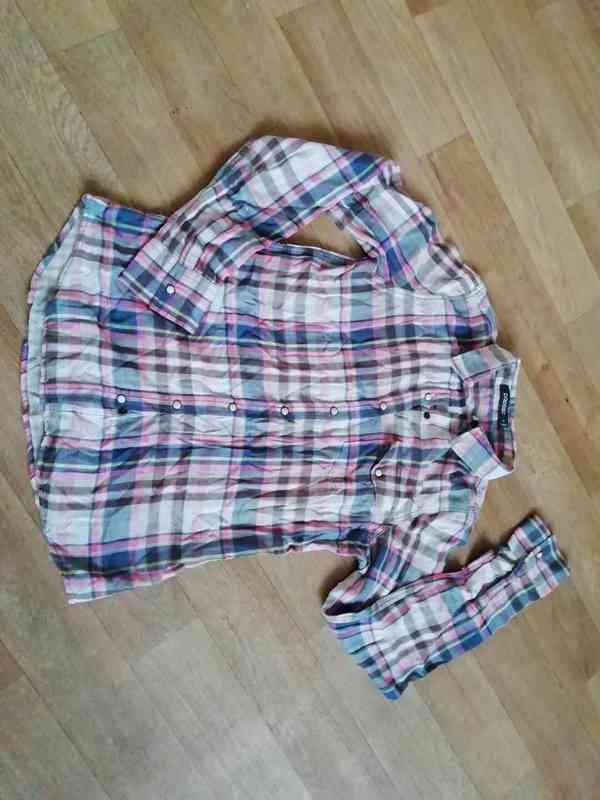 Dámská košile vel. M zn. Poposo - 1 x použitá - š. 2 x 44 cm - foto 1