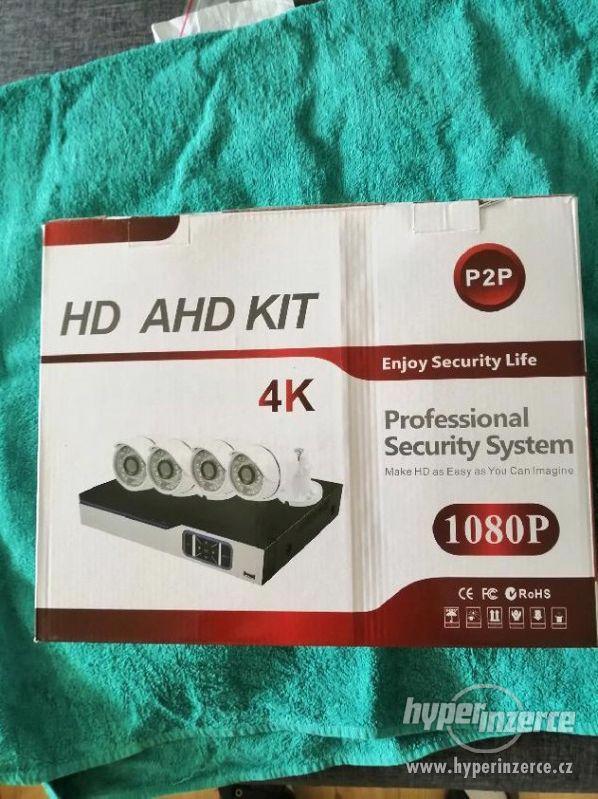Bezpečnostní 4-kamerový AHD komplet set+