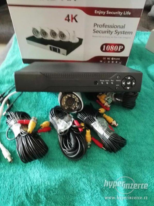 Bezpečnostní 4-kamerový AHD komplet set+ - foto 6