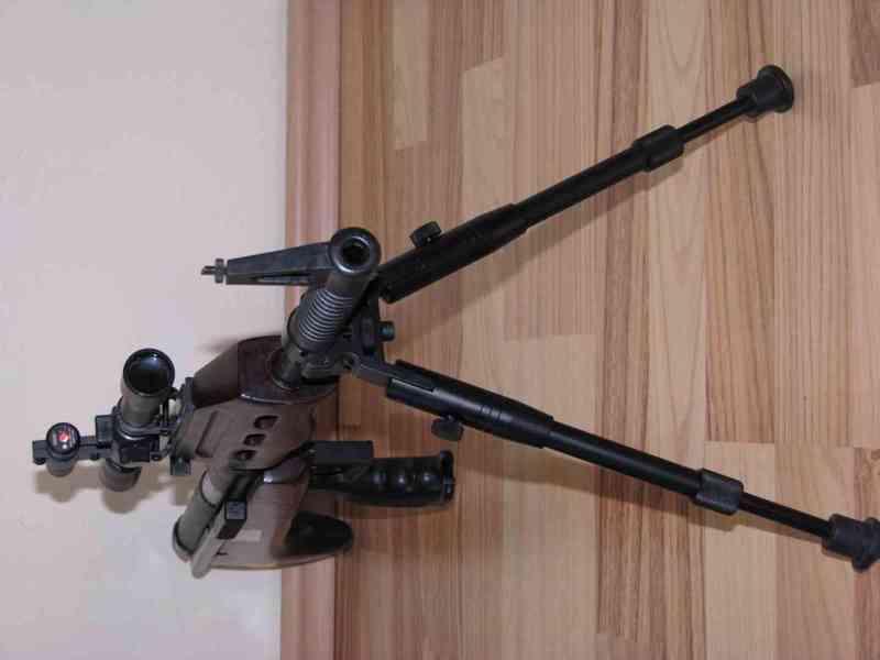 Bipod Dvojnožka na lištu 22mm výška 22 - 26cm Telescop     B