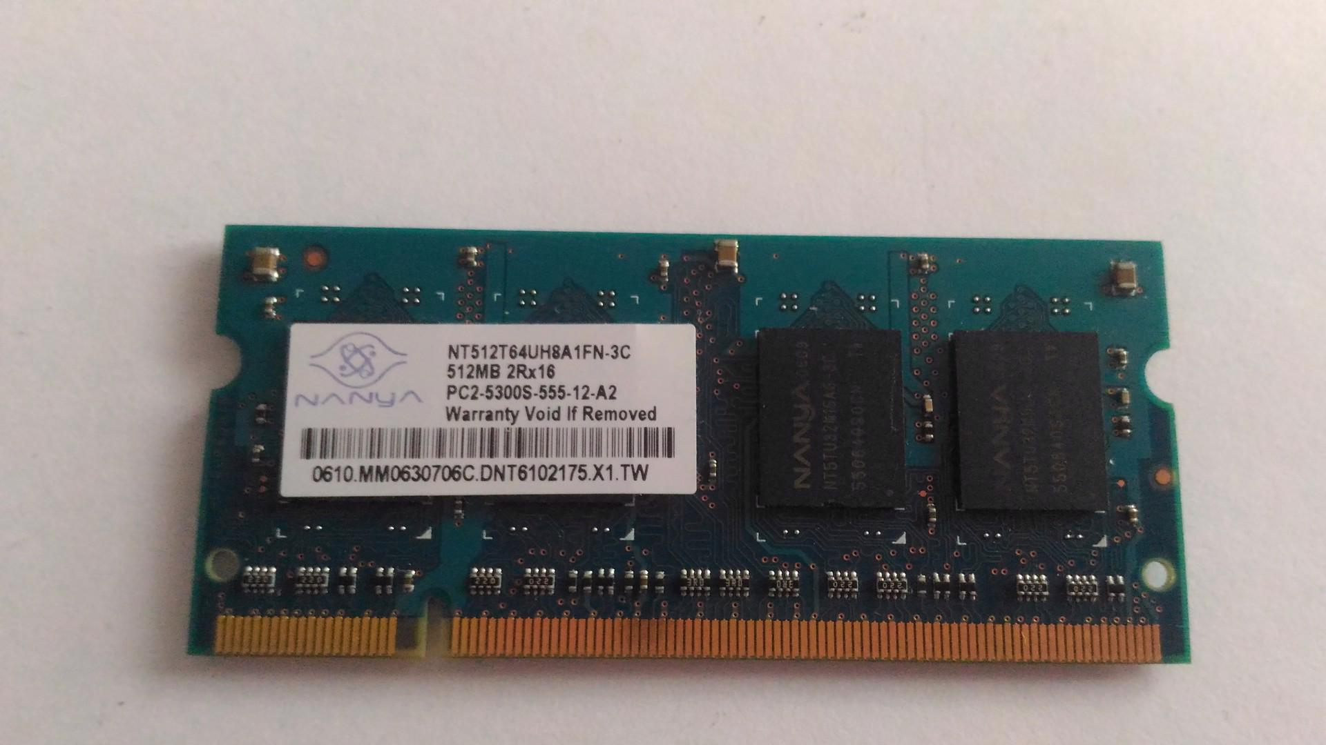 NTB Ram 512 MB - foto 1