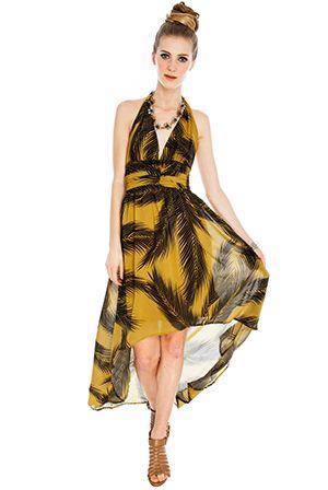 Nové štýlové high low hawaii šaty - foto 1