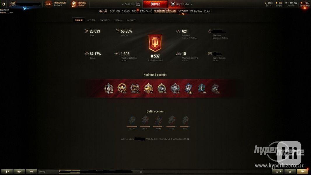 World of Tanks účet