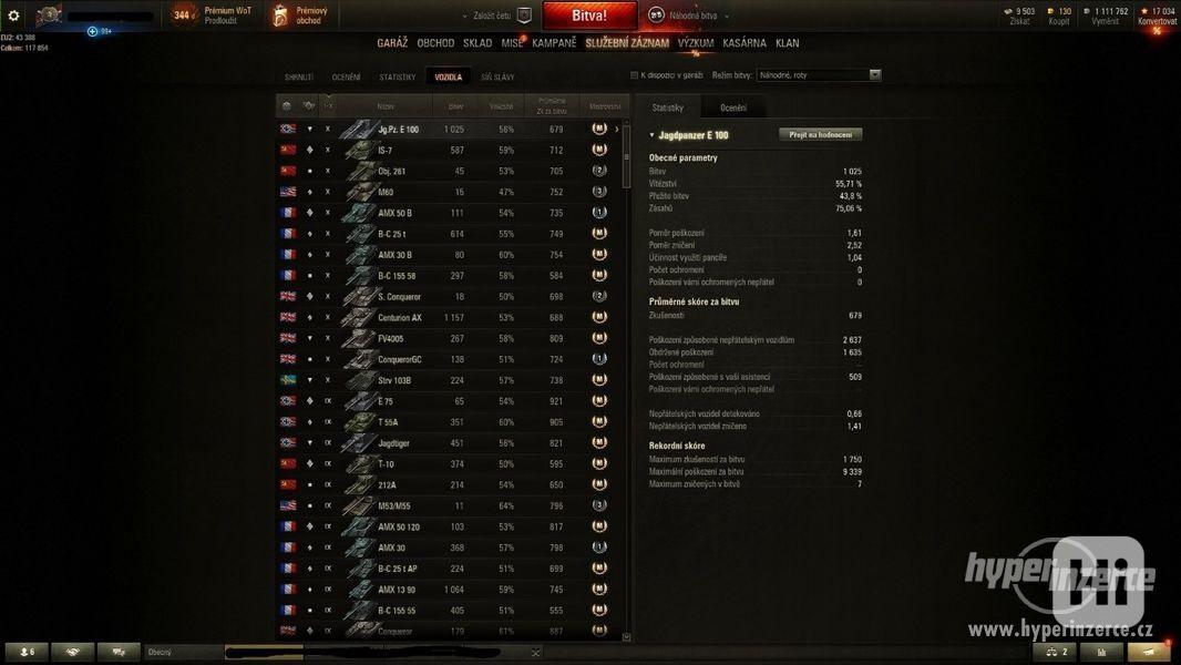 World of Tanks účet - foto 3