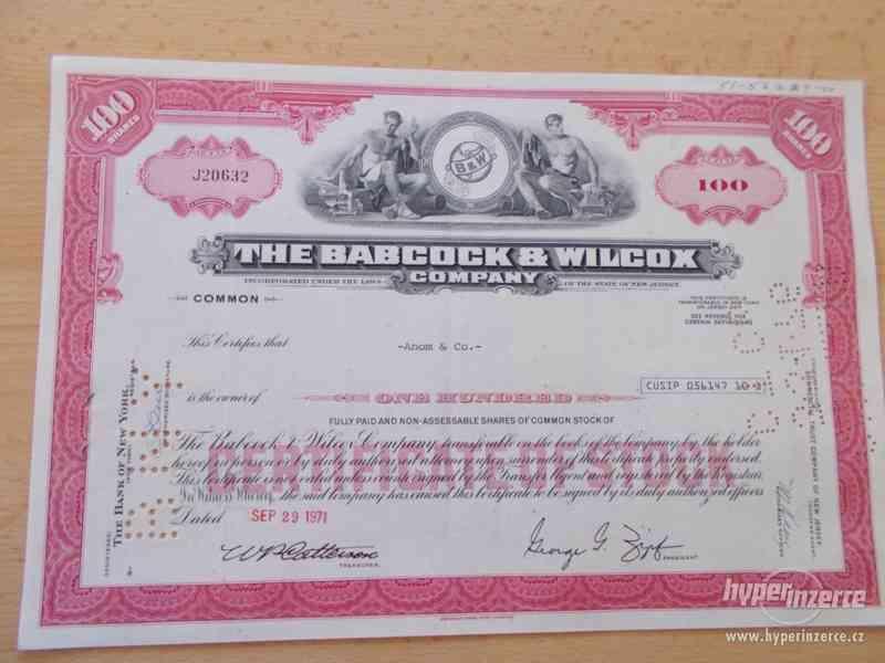 THE BABCOCK & WILCOX - staré akcie USA