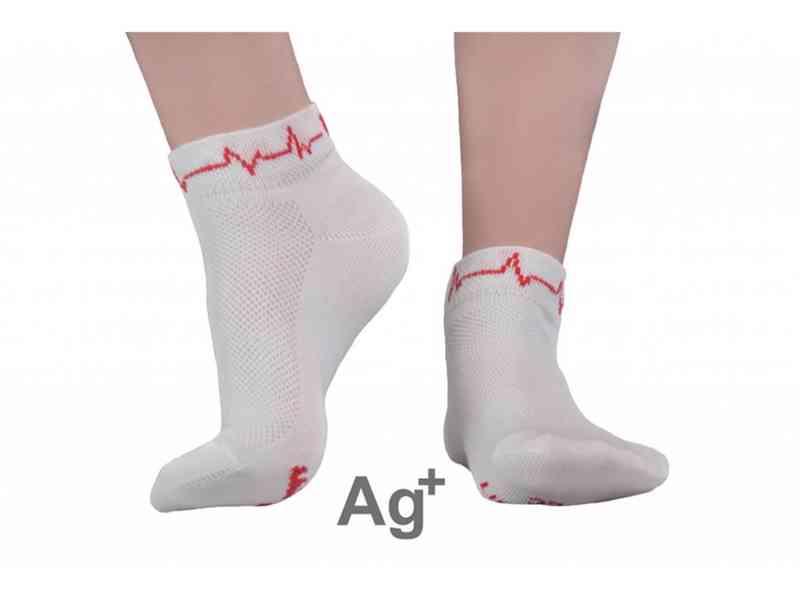 Ponožky URSUN se stříbrem Srdeční