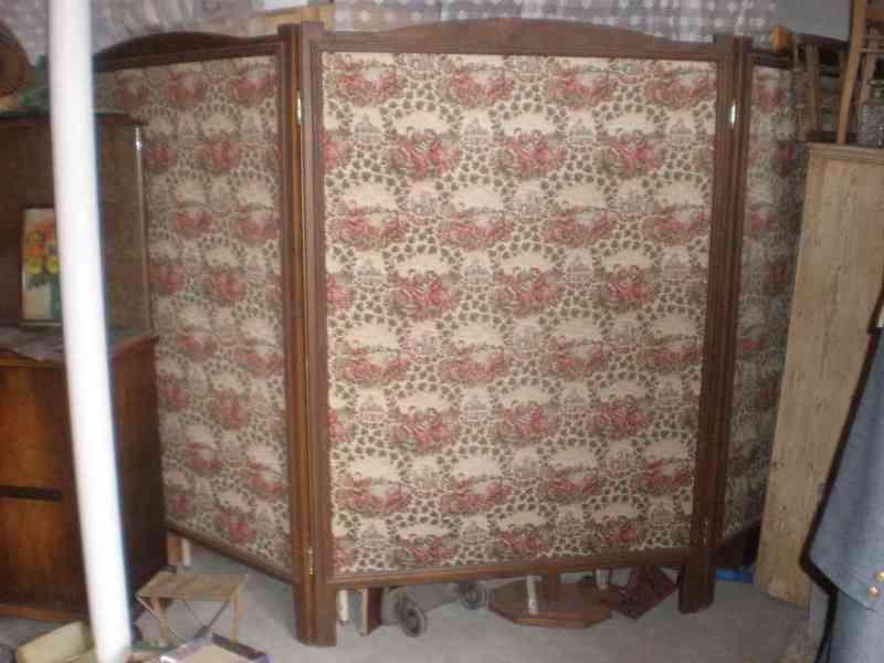 8 kusů krásných paravanů, rám dřevo, stylová látka - foto 1