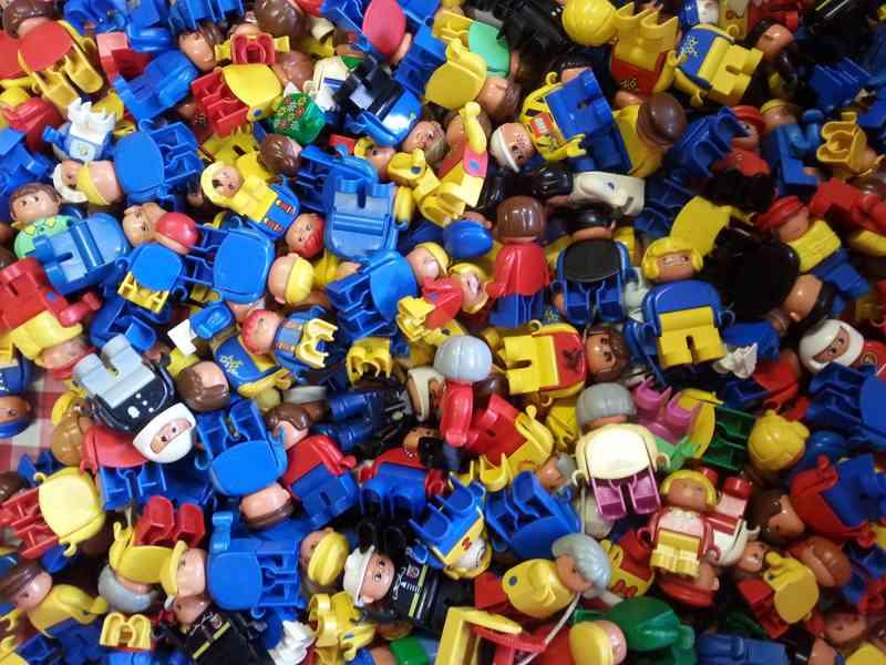 Lego Duplo figurky mix horší stav