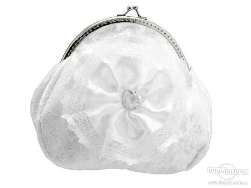 Bílá kabelka svatební, kabelka pro nevěstu