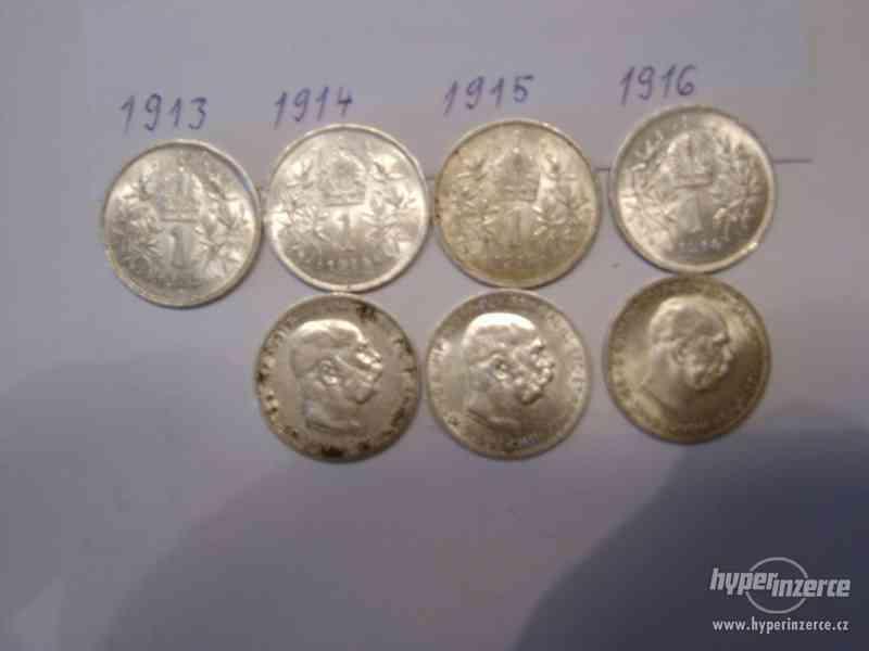 Stříbrné mince prodám