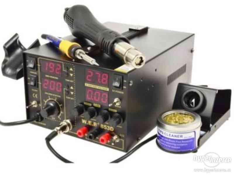 Pájecí stanice WEP 853D 4v1 LED, zdroj 30V 5A 75W