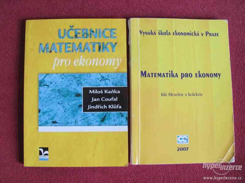 2 Učebnice VŠE: Matematika pro ekonomy, Učebnice matematiky