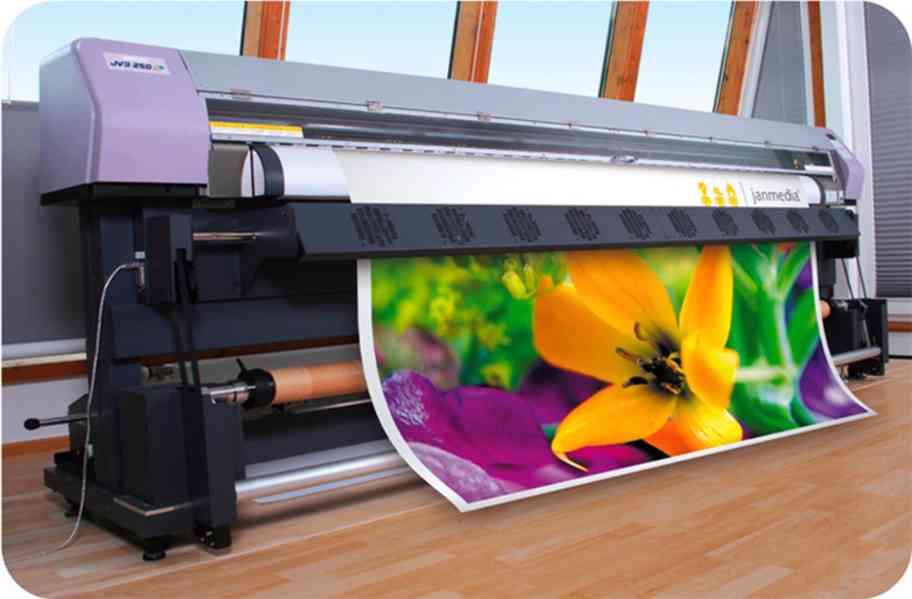 Velkoplošná solventní tiskárna Mimaki JV3-250SP