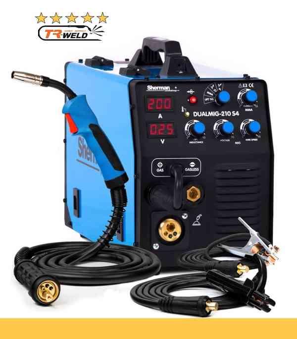 DUALMIG MIG 210 S4 TRW Invertorová svářečka včetně hořáku a kabelů 200A / 230V