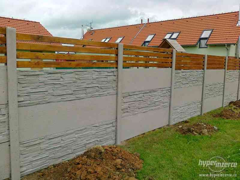 montáž betonových plotů - foto 3